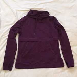 Warm and Soft Athletic Mock Neck Pull-over